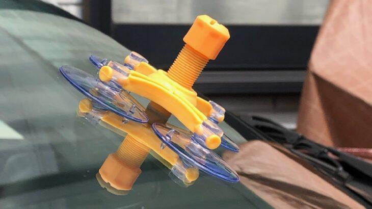ロードスターの「飛び石傷」ガラス補修